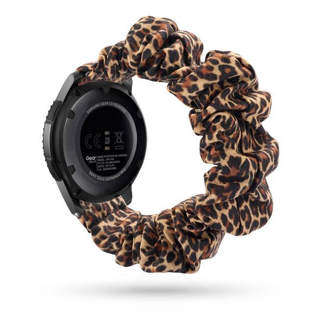 Home brown leopard / 20mm watch band Elastic Watch Strap for samsung galaxy watch active 2 46mm 42mm huawei watch GT 2 strap gear s3 frontier amazfit bip strap 22 mm