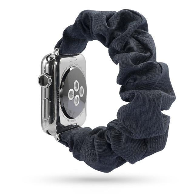 Home charcoal / 38mm or 40mm Elastic Apple Watch stretch Strap band  iwatch 42mm 38 mm 44mm 40mm Series 5 4 3 women belt watchband