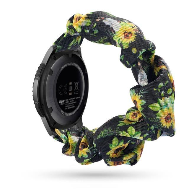 Home charcoal sunflower / 20mm watch band Elastic Watch Strap for samsung galaxy watch active 2 46mm 42mm huawei watch GT 2 strap gear s3 frontier amazfit bip strap 22 mm