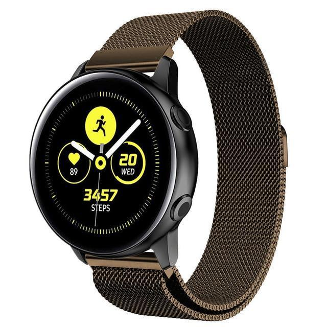 Home coffee / 20mm watch band Milanese strap For Samsung Galaxy watch Active 2 46mm/42mm Gear S3 Frontier band 22mm stainless steel bracelet Active2 40mm 44mm