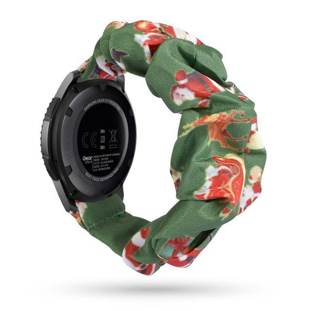 Home dark green christmas / 20mm watch band Elastic Watch Strap for samsung galaxy watch active 2 46mm 42mm huawei watch GT 2 strap gear s3 frontier amazfit bip strap 22 mm