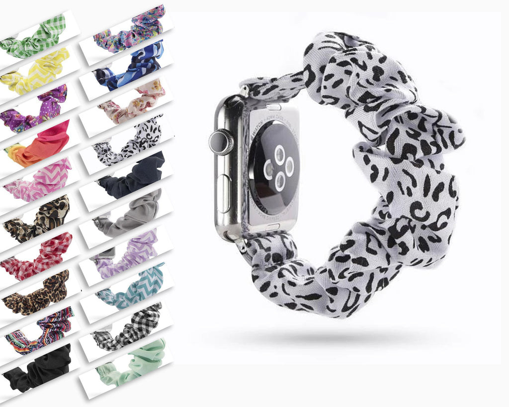 Home Elastic Apple Watch stretch Strap band  iwatch 42mm 38 mm 44mm 40mm Series 5 4 3 women belt watchband