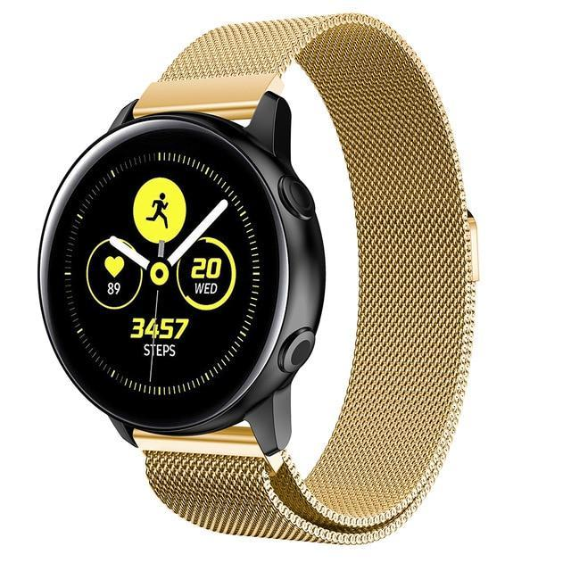 Home gold / 20mm watch band Milanese strap For Samsung Galaxy watch Active 2 46mm/42mm Gear S3 Frontier band 22mm stainless steel bracelet Active2 40mm 44mm