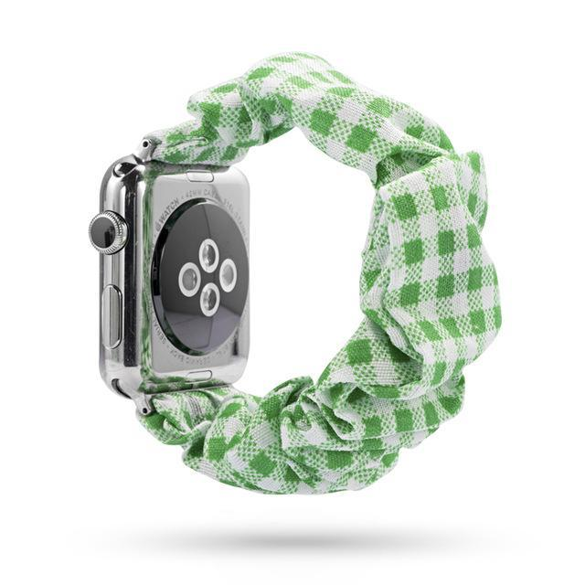 Home green / 38mm or 40mm Elastic Apple Watch stretch Strap band  iwatch 42mm 38 mm 44mm 40mm Series 5 4 3 women belt watchband