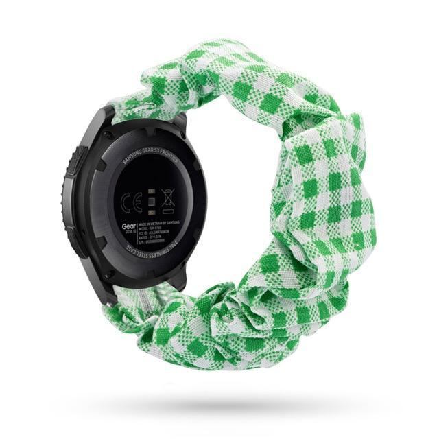 Home green checkered / 20mm watch band Elastic Watch Strap for samsung galaxy watch active 2 46mm 42mm huawei watch GT 2 strap gear s3 frontier amazfit bip strap 22 mm