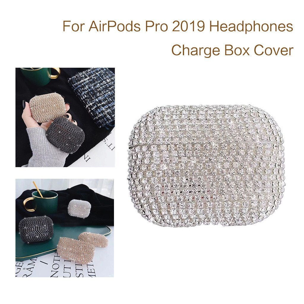 Home HIPERDEAL Manual DIY Diamond Protective Cover For AirPods Pro 2019 Wireless Charging Box Set with Diamond Protection Cover Case on AliExpress