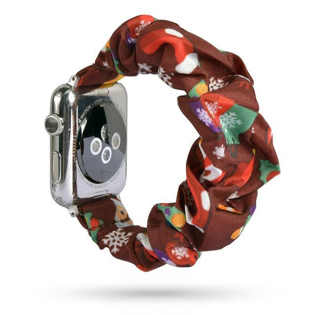 Home Holiday sale! - Scrunchie Elastic Apple Watch stretch band,  iwatch 42mm 38 mm 44mm 40mm, Series 5 4 3