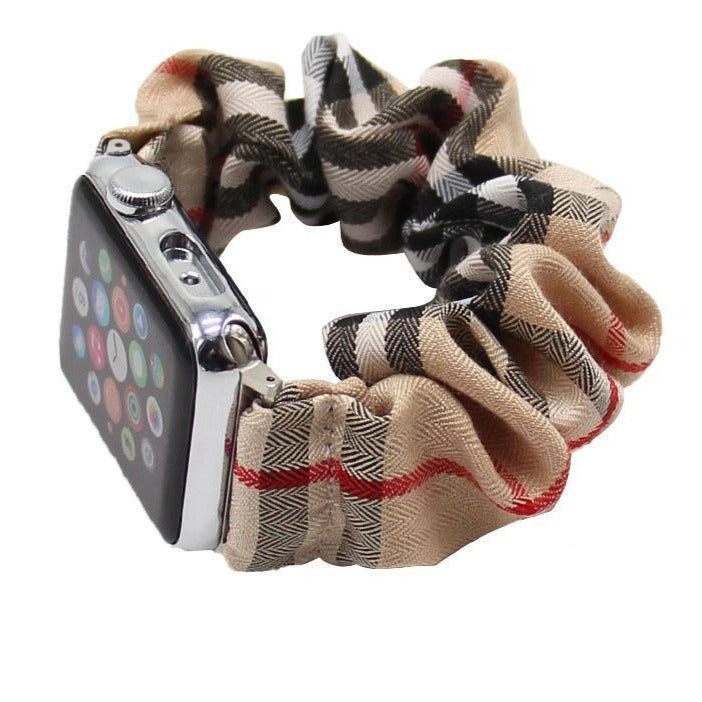 Knitted Chiffon Printed Watch Band for Apple Watch Accessoires Party Family Gifts Colorful Fabrics Wristband Watchband Series 6 5 4 3 2 1 38mm 40mm 42mm 44mm