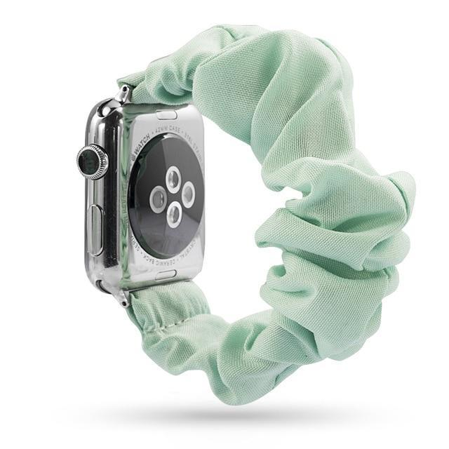 Home light green / 38mm or 40mm Elastic Apple Watch stretch Strap band  iwatch 42mm 38 mm 44mm 40mm Series 5 4 3 women belt watchband
