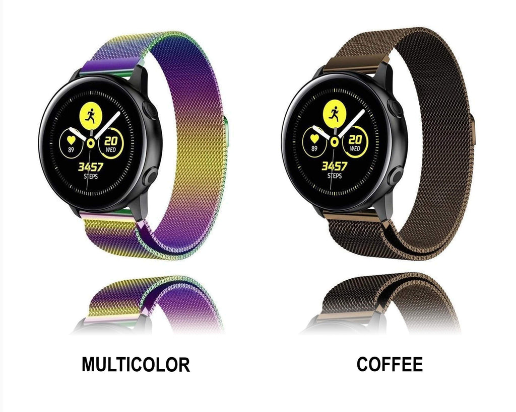 Home Milanese strap For Samsung Galaxy watch Active 2 46mm/42mm Gear S3 Frontier band 22mm stainless steel bracelet Active2 40mm 44mm