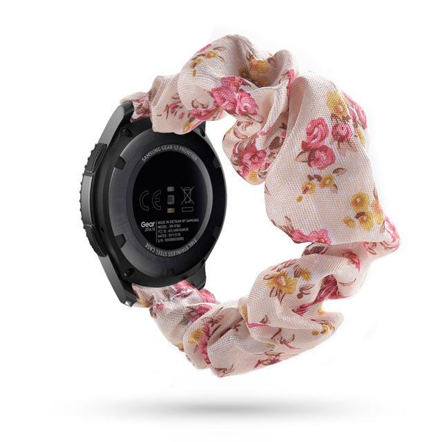 Home peach floral / 20mm watch band Elastic Watch Strap for samsung galaxy watch active 2 46mm 42mm huawei watch GT 2 strap gear s3 frontier amazfit bip strap 22 mm