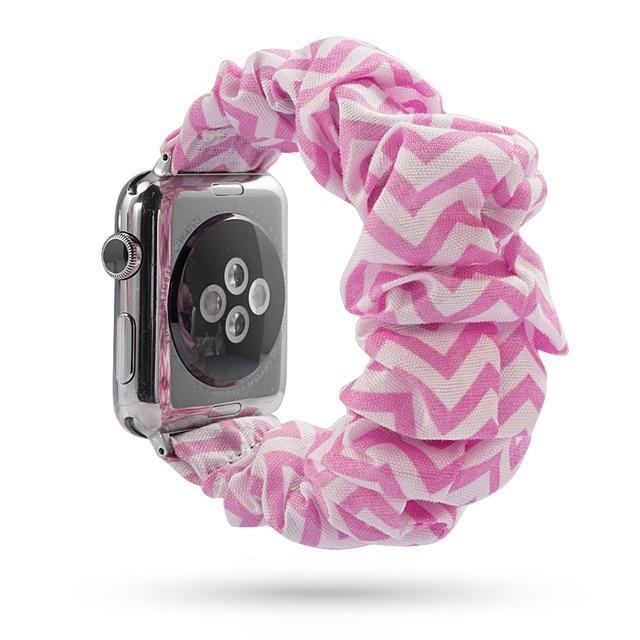 Home pink / 38mm or 40mm Elastic Apple Watch stretch Strap band  iwatch 42mm 38 mm 44mm 40mm Series 5 4 3 women belt watchband