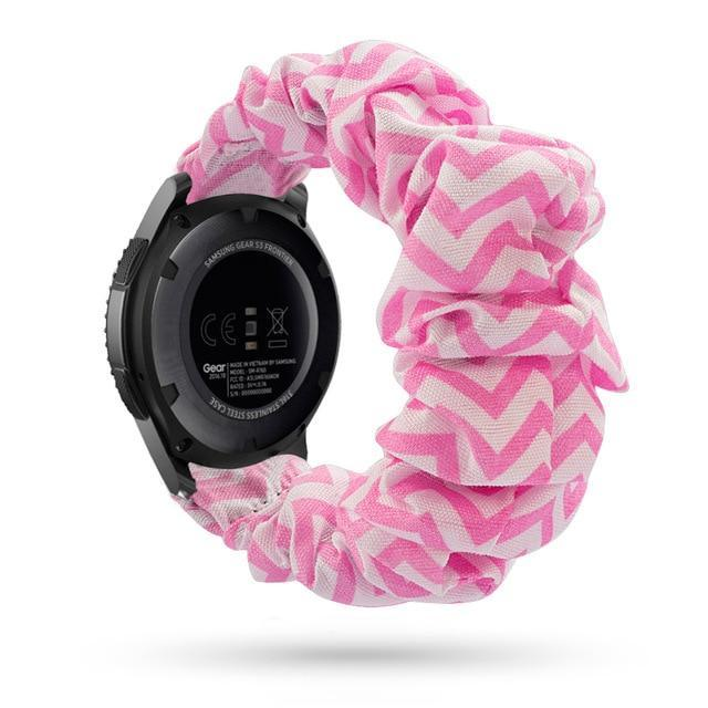 Home pink chevron / 20mm watch band Elastic Watch Strap for samsung galaxy watch active 2 46mm 42mm huawei watch GT 2 strap gear s3 frontier amazfit bip strap 22 mm