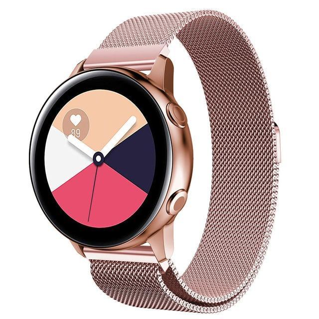 Home pink gold / 20mm watch band Milanese strap For Samsung Galaxy watch Active 2 46mm/42mm Gear S3 Frontier band 22mm stainless steel bracelet Active2 40mm 44mm