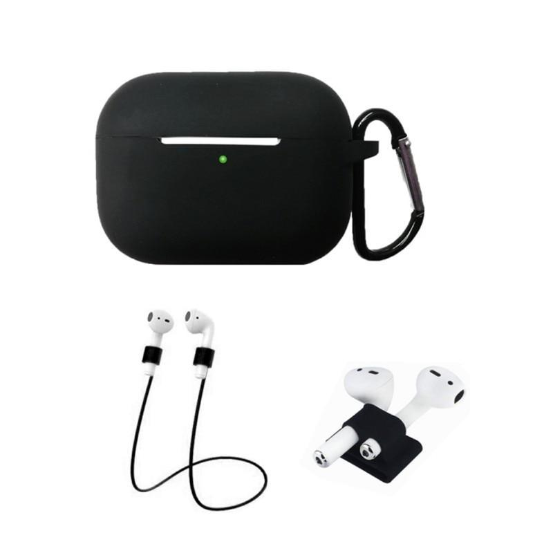 Home Protective Case For AirPods Pro / 3, Portable Silicone Protection Cover Charging Box Protector With Hook Rope Sleeve on AliExpress