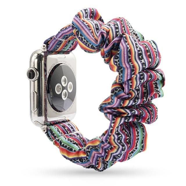 Home Rainbow / 38mm or 40mm Elastic Apple Watch stretch Strap band  iwatch 42mm 38 mm 44mm 40mm Series 5 4 3 women belt watchband