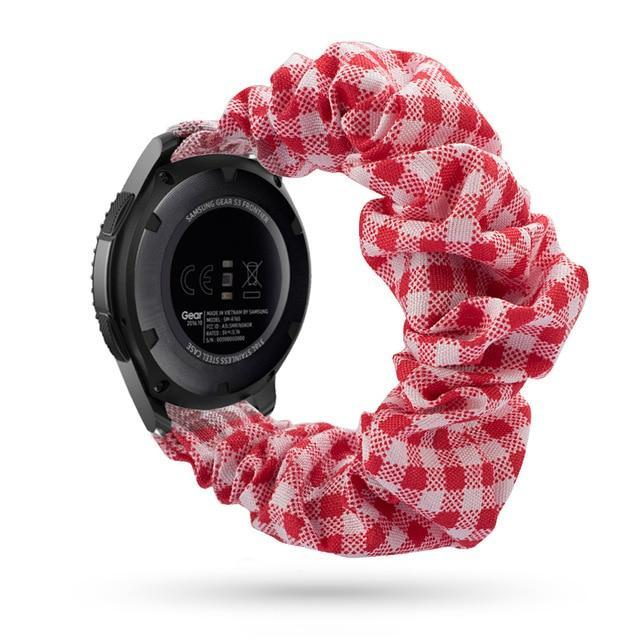 Home red checkered / 20mm watch band Elastic Watch Strap for samsung galaxy watch active 2 46mm 42mm huawei watch GT 2 strap gear s3 frontier amazfit bip strap 22 mm