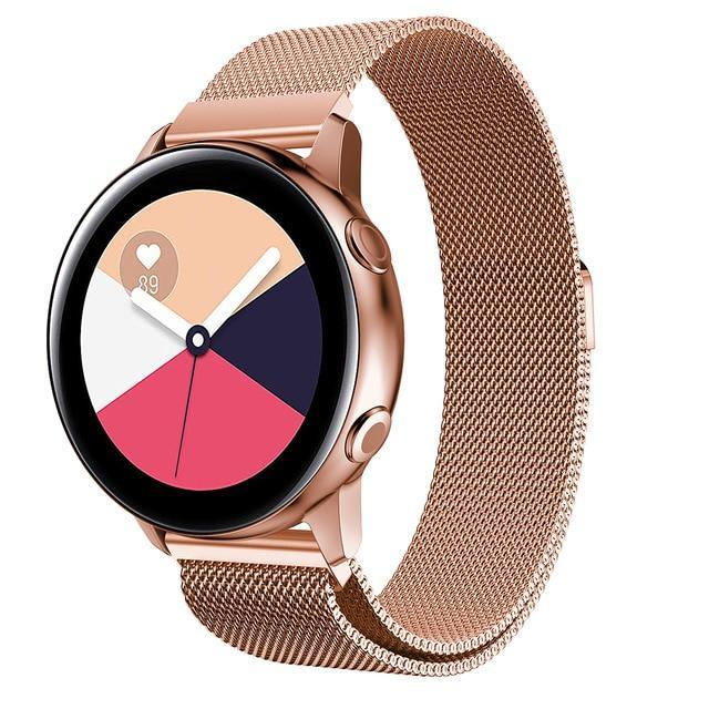 Home rose gold / 20mm watch band Milanese strap For Samsung Galaxy watch Active 2 46mm/42mm Gear S3 Frontier band 22mm stainless steel bracelet Active2 40mm 44mm
