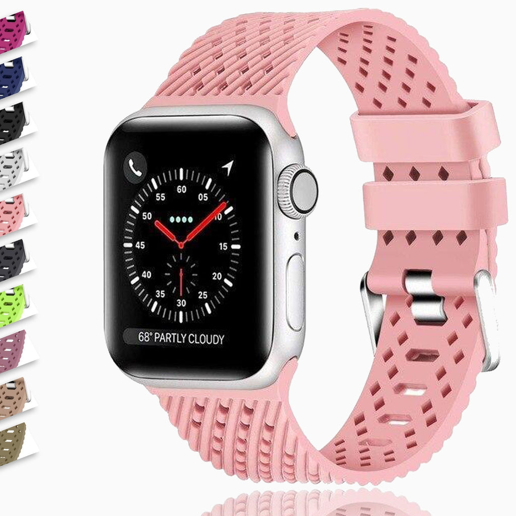 Home Silicone Strap for Apple watch 5 band 44mm 40mm iwatch band 38mm 42mm Rhombic pattern watchband bracelet Apple watch 5 4 3 2 1 38