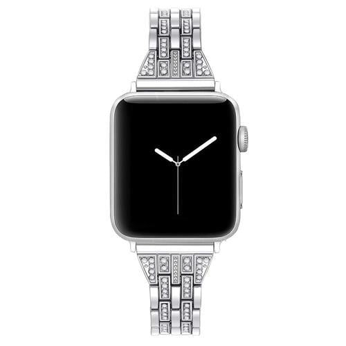 Home silver / 38mm Watch accessories strap for apple watch iwatch band 38mm 40mm 42mm 44mm Series 5/4/3/2/1 Diamond Rhinestone luxury link bracelet