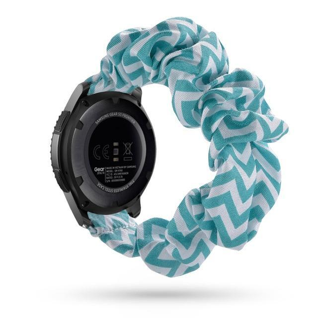 Home teal chevron / 20mm watch band Elastic Watch Strap for samsung galaxy watch active 2 46mm 42mm huawei watch GT 2 strap gear s3 frontier amazfit bip strap 22 mm