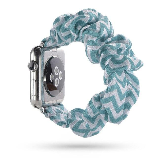 Home turquoise / 38mm or 40mm Elastic Apple Watch stretch Strap band  iwatch 42mm 38 mm 44mm 40mm Series 5 4 3 women belt watchband
