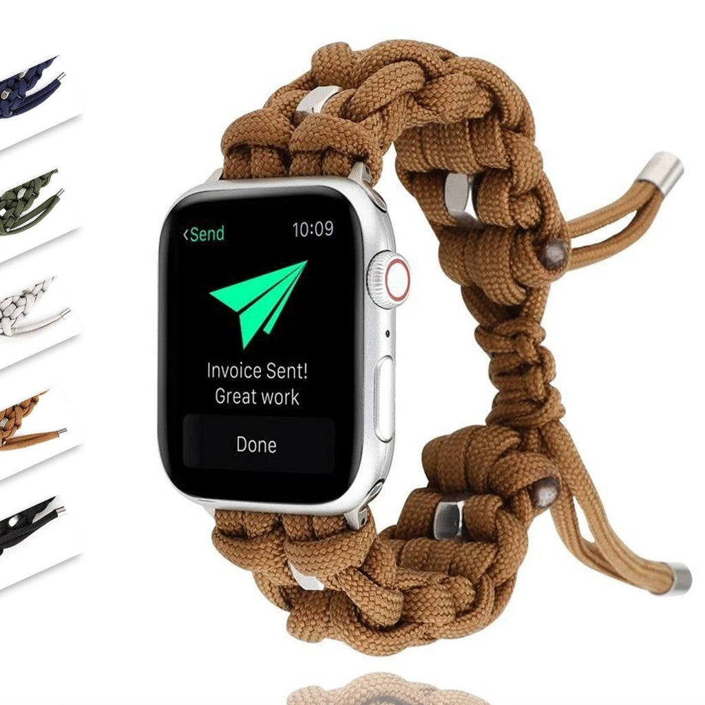 Home Umbrella rope strap for apple watch 4 5 band 44mm 40mm 42mm 38mm iwatch 5/4/3/2/1 Outdoor travel bracelet adjustable nylon belt