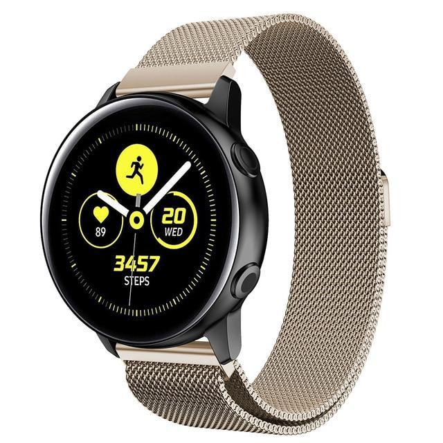 Home Vintage gold / 20mm watch band Milanese strap For Samsung Galaxy watch Active 2 46mm/42mm Gear S3 Frontier band 22mm stainless steel bracelet Active2 40mm 44mm
