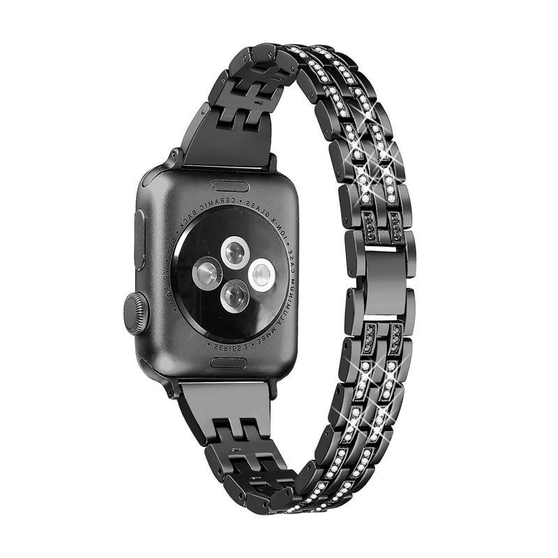 Home Watch accessories strap for apple watch iwatch band 38mm 40mm 42mm 44mm Series 5/4/3/2/1 Diamond Rhinestone luxury link bracelet