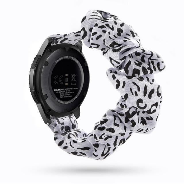Home white leopard / 20mm watch band Elastic Watch Strap for samsung galaxy watch active 2 46mm 42mm huawei watch GT 2 strap gear s3 frontier amazfit bip strap 22 mm