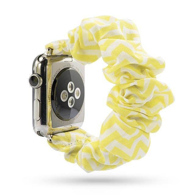 Home yellow / 38mm or 40mm Elastic Apple Watch stretch Strap band  iwatch 42mm 38 mm 44mm 40mm Series 5 4 3 women belt watchband