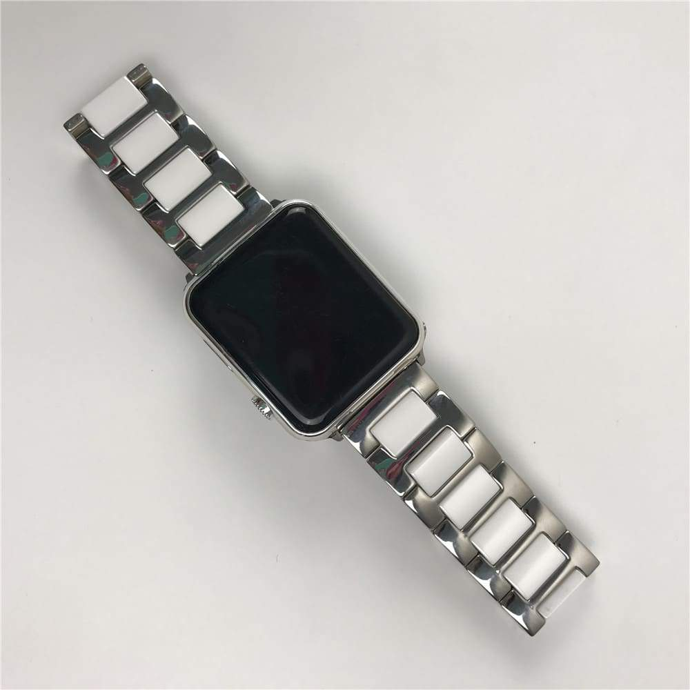Watches Apple Watch Series 6 5 4 3 2 Band, Ceramic Stainless Steel link Strap 38mm, 40mm, 42mm, 44mm - US Fast Shipping