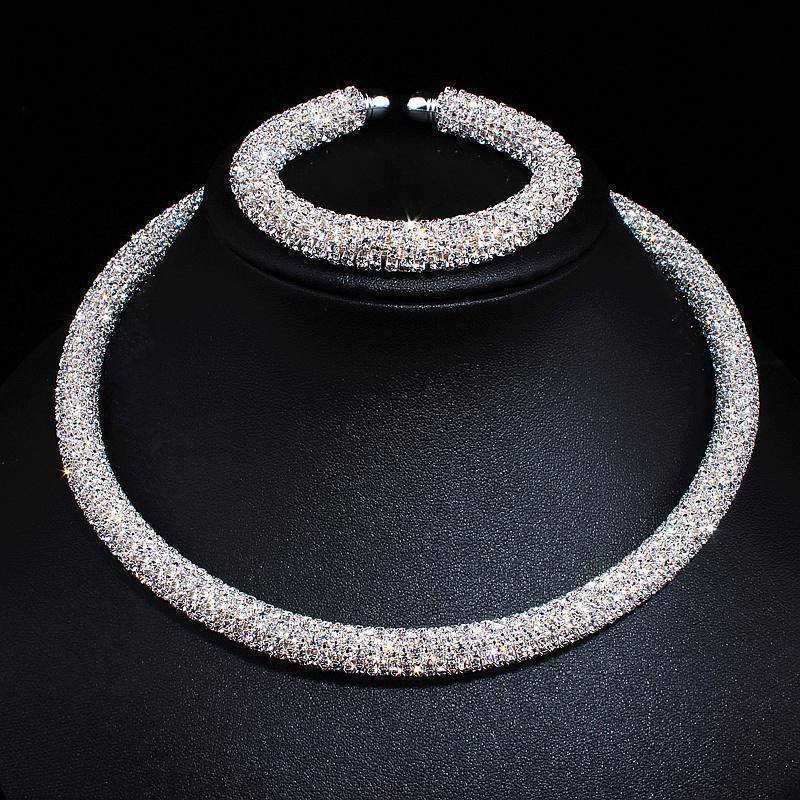 jewelry 4 Colors, Maxi Crystal Collar Necklace Choker Necklaces