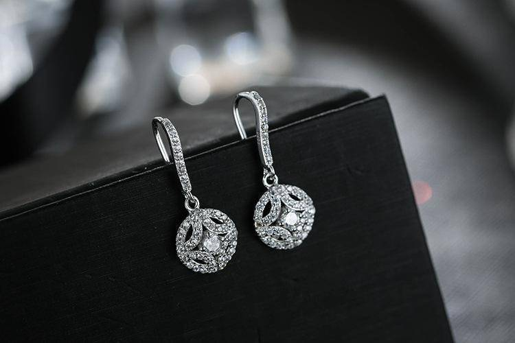 jewelry earrings Zirconia Crystal Sterling Silver dangle drop  Earrings