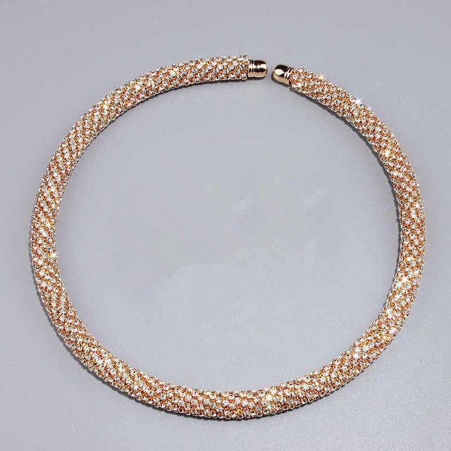 jewelry Gold Collar 4 Colors, Maxi Crystal Collar Necklace Choker Necklaces