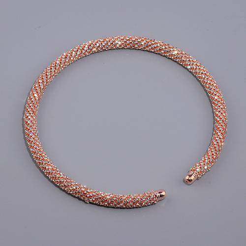 jewelry Rose Gold Collar 4 Colors, Maxi Crystal Collar Necklace Choker Necklaces