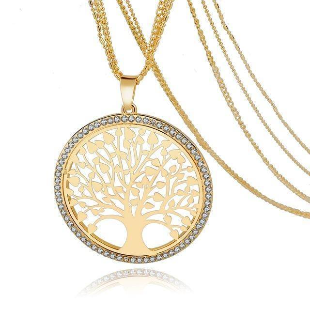jewelry set Gold Necklace 6 Designs, Tree of Life Jewelry set