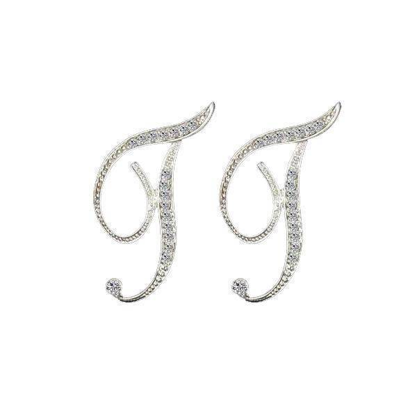jewelry T-Z, 26 Letters Silver Stud Earrings