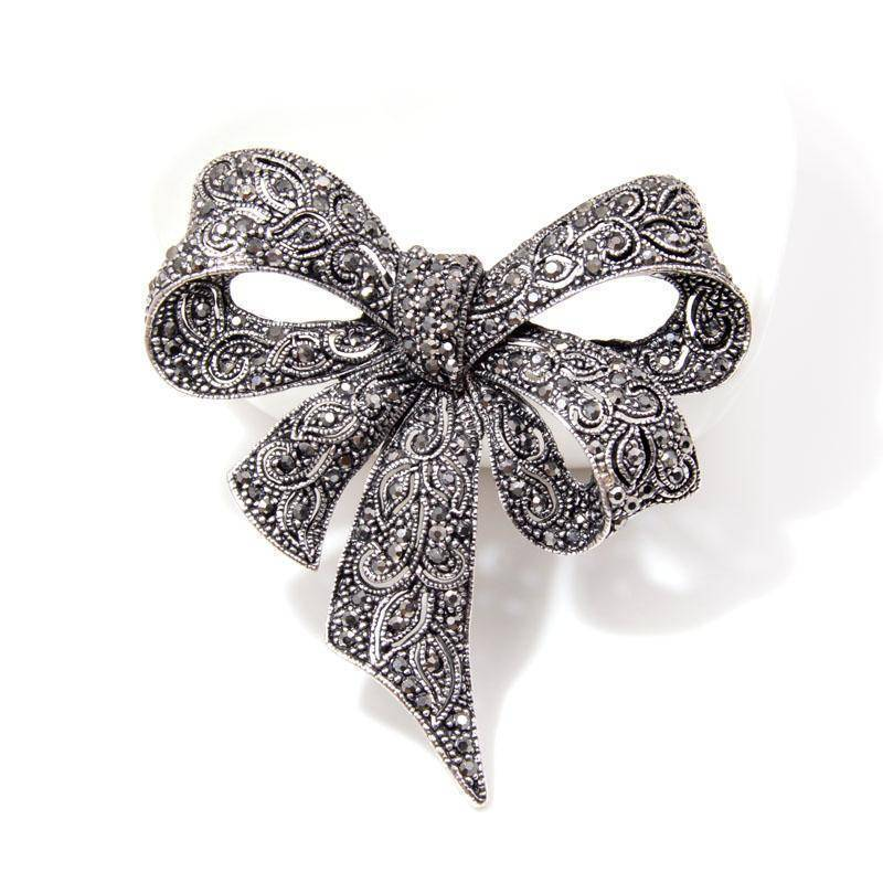 jewelry Vintage Rhinestone Bow Brooches