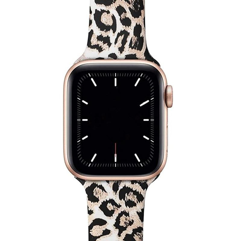 Watchbands leopard printing silicone strap for Apple watch band 42mm 38mm 44mm 40mm bracelet belt for iwatch series SE 6 5 4 3 accessories|Watchbands|