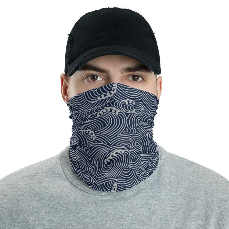 Neck Gaiter Traditional Japanese Patterns | Men/Women | Recycled | Face Mask/Headband/Balaclava by nekku