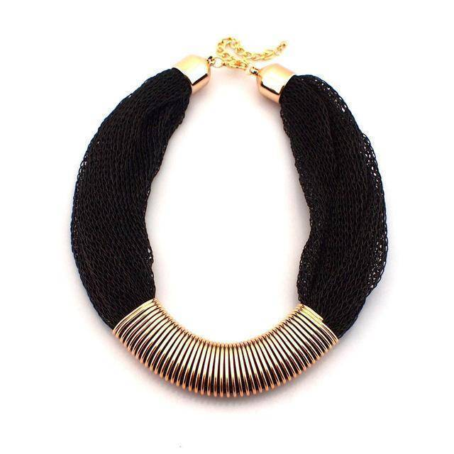 necklace Black Collar Rope Choker Statement Necklace