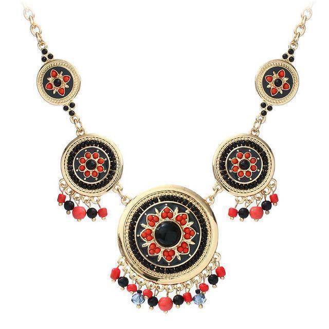 necklace gold Ethnic Enamel Statement Necklaces