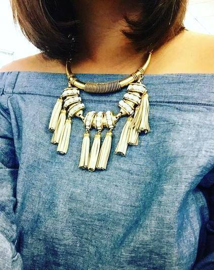 Necklaces Bohemian Leather Tassel Choker Necklace