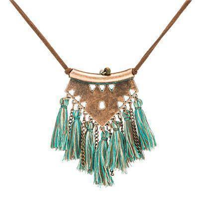 necklaces bronze Sweater chain Leather Chain Necklaces