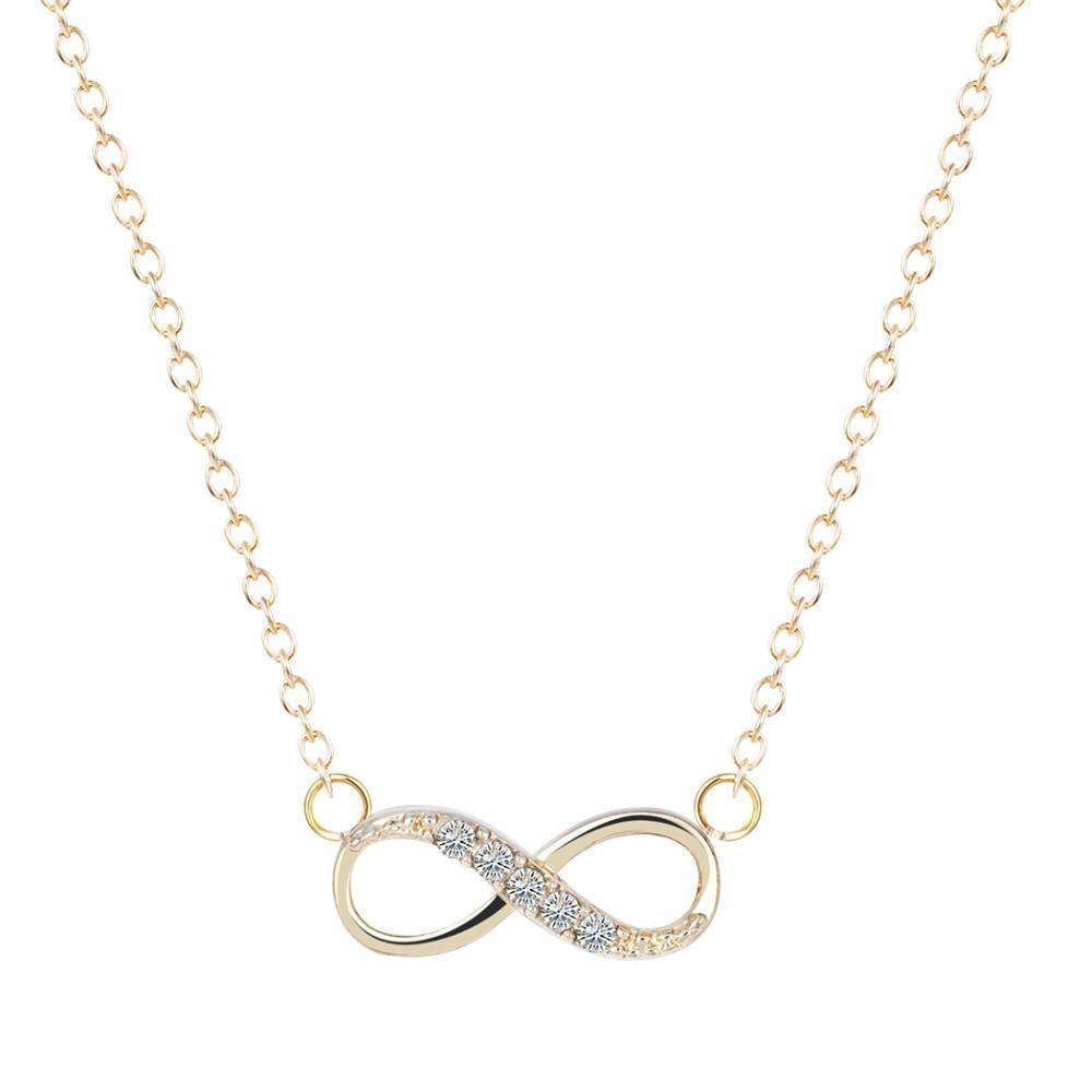 necklaces Gold Tiny Infinity Pendant Necklace