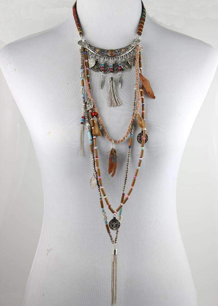 Necklaces Gypsy Statement Vintage Long Ethnic boho necklace