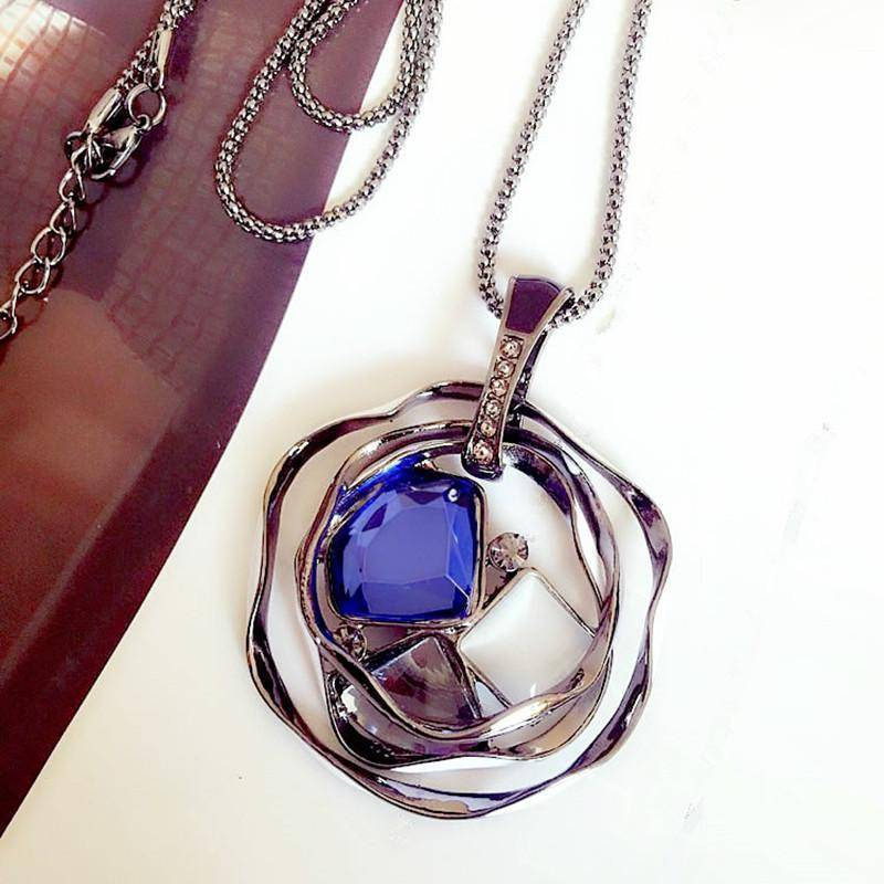necklaces Pendant Necklaces Sweater Long Crystal Chain