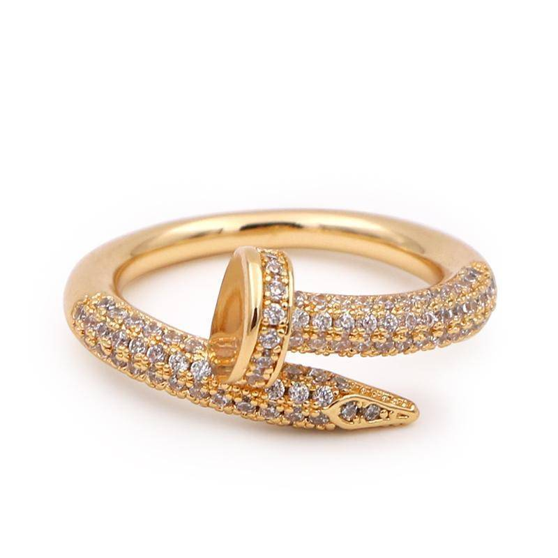 rings 6 / gold Cubic Zircon Rings