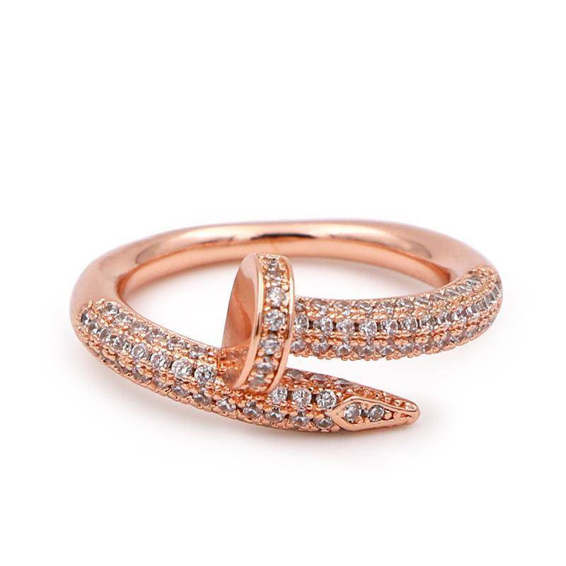 rings 6 / rose gold Cubic Zircon Rings